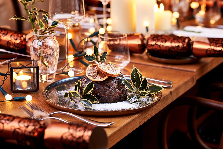 christmas pudding photo